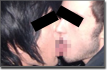 Pictured: an extremely disturbing gay kiss (censored).
