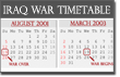 Pictured: the official Iraq war timetable.