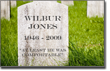 Pictured: Wilbur's tombstone.